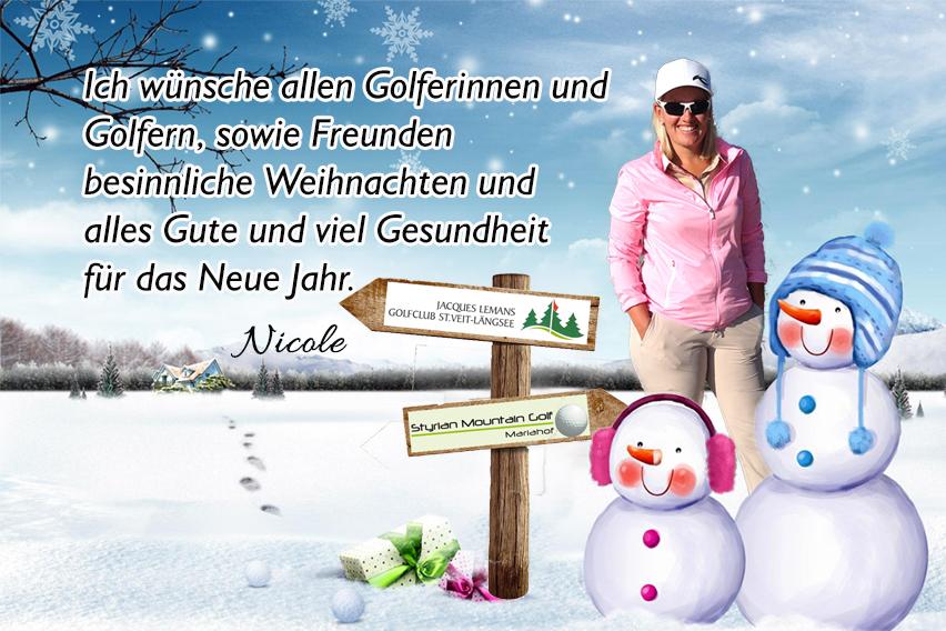 Nicole Gergely - Frohe Weihnachten an allen Golfern